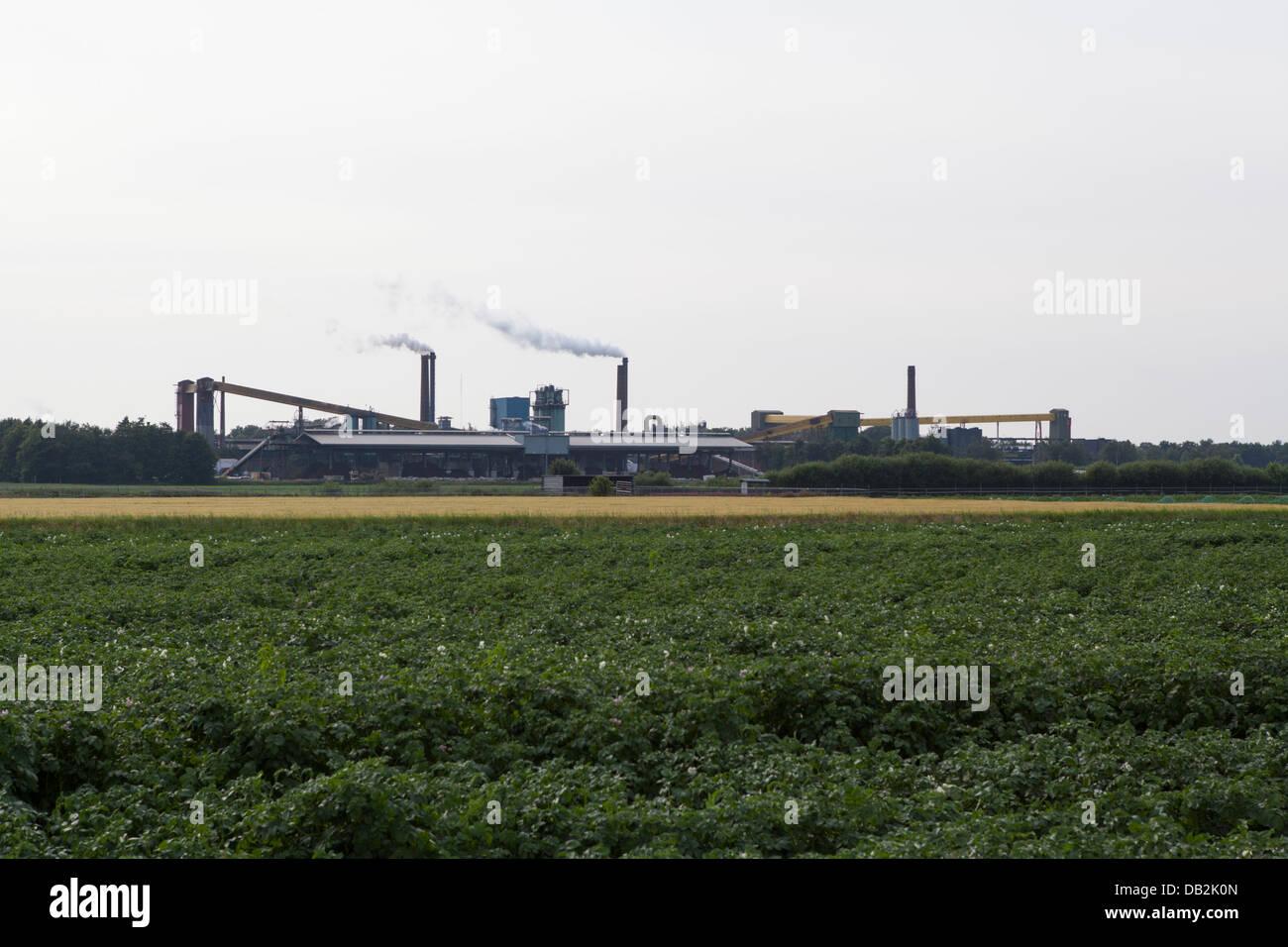 Norit productionplant in Klazienaveen in the Netherlands - Stock Image