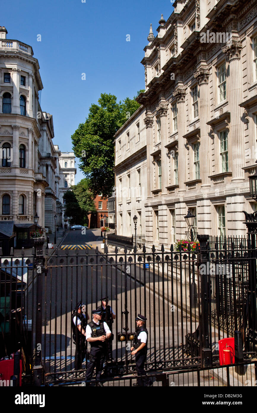 Downing Street (Residence of The British Prime Minister) London, England - Stock Image