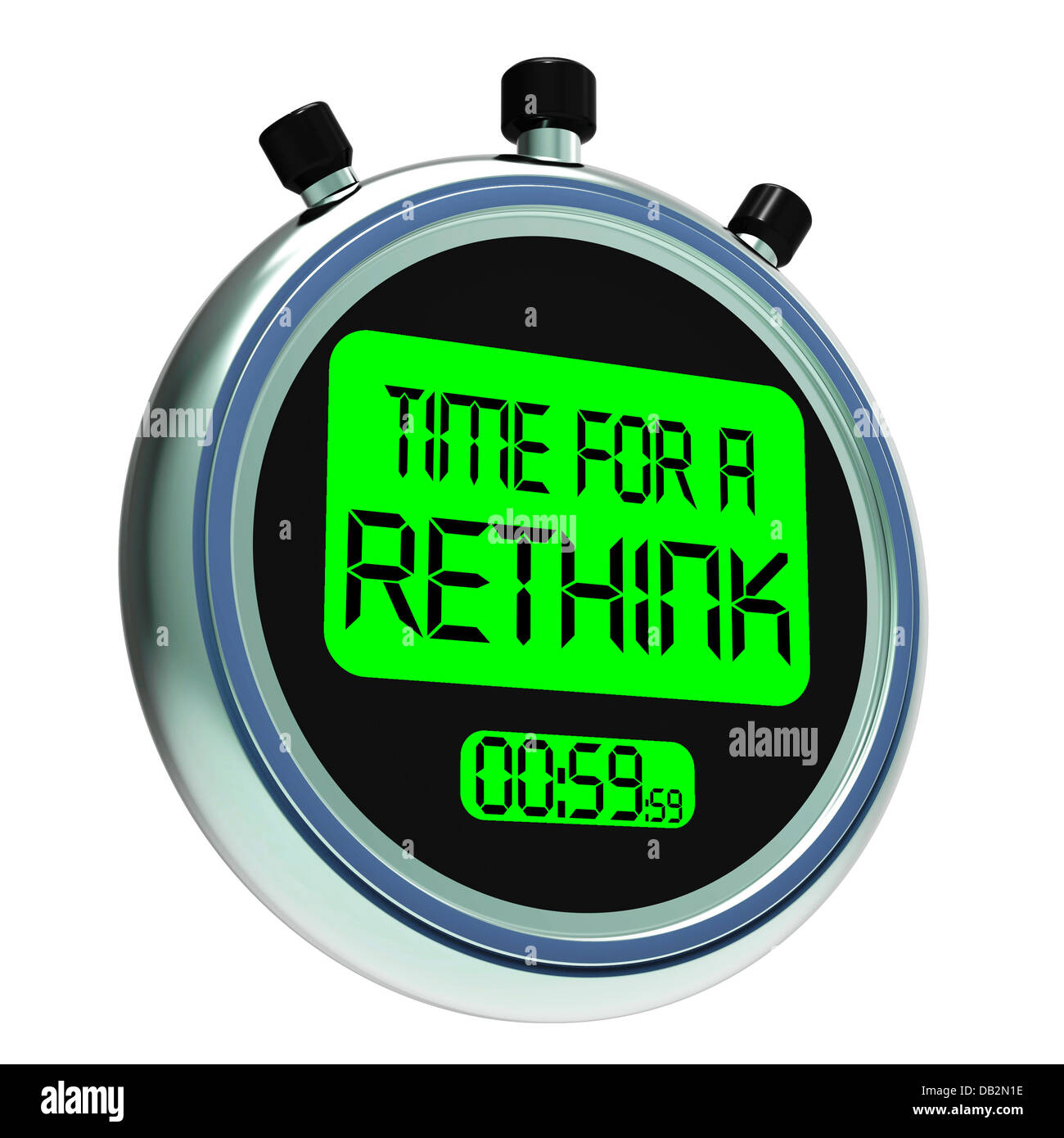 Time For A Rethink Meaning Change Strategy - Stock Image