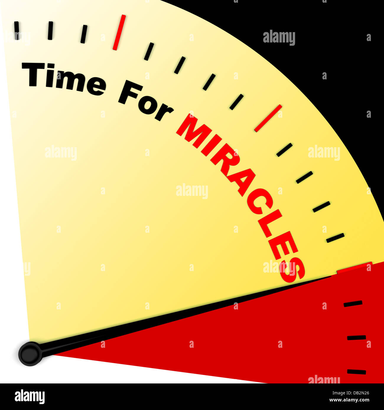 Time For Miracles Message Meaning Faith In God - Stock Image