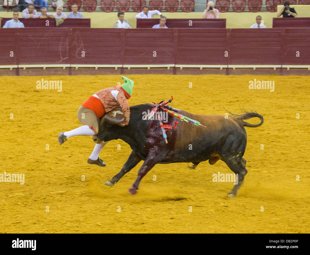 Bullfight at Campo Pequeno, Lisboa, Portugal. - Stock Image