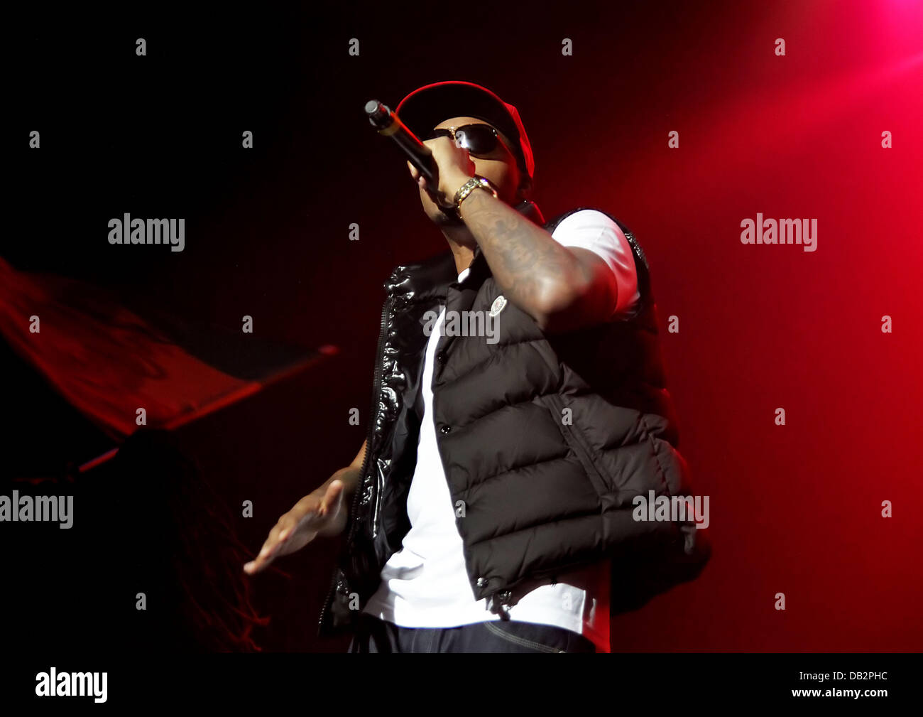 Nas performing at Manchester O2 Apollo Theatre Manchetser, England - 02.04.11 Stock Photo