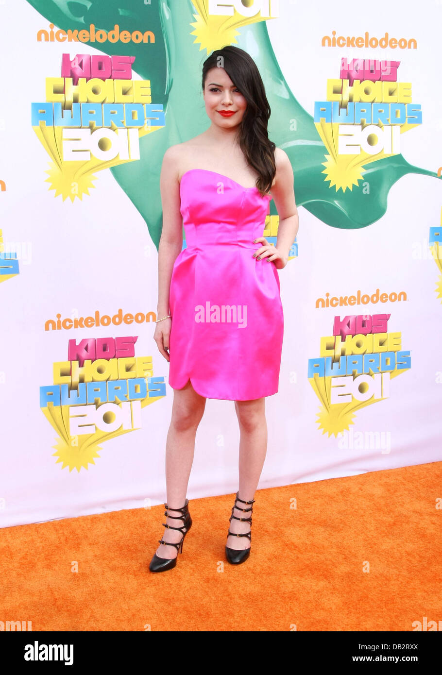 Miranda Cosgrove Nickelodeon's 2011 Kids Choice Awards held at USC's Galen Center  Los Angeles, California - Stock Image