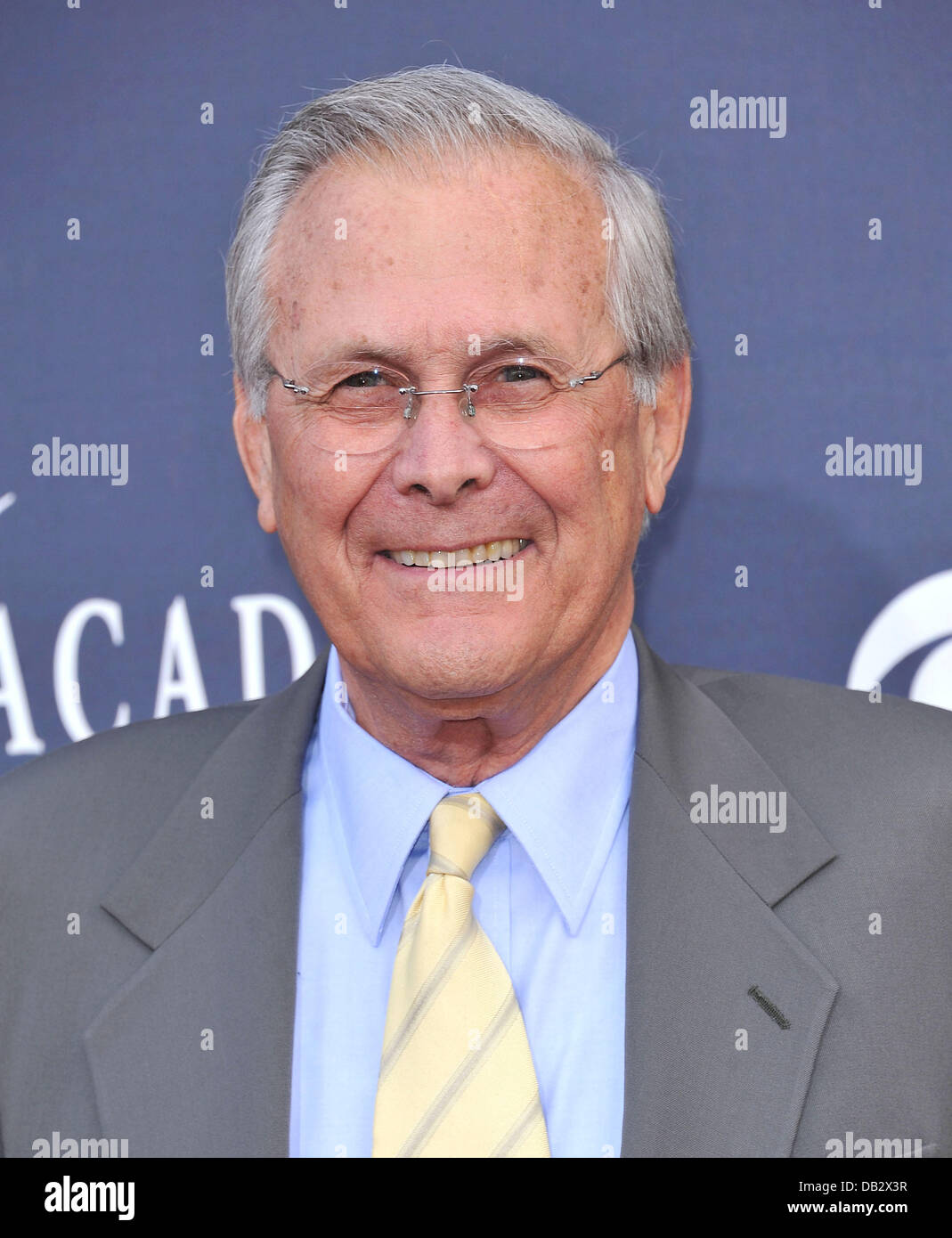 Donald Rumsfeld The Academy of Country Music Awards 2011 at MGM Grand Garden Arena - Arrivals Las Vegas, Nevada - Stock Image