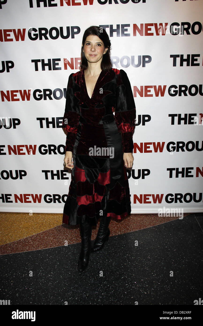 Marisa Tomei wearing Norma Kamali  Celebration for The New Group Off-Broadway production of 'Wallace Shawn's - Stock Image