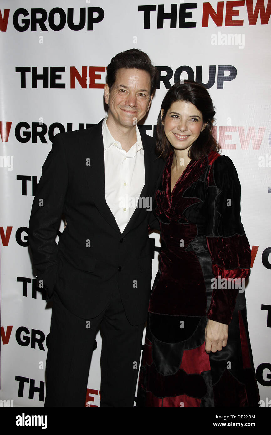 Frank Whaley and Marisa Tomei  Celebration for The New Group Off-Broadway production of 'Wallace Shawn's - Stock Image