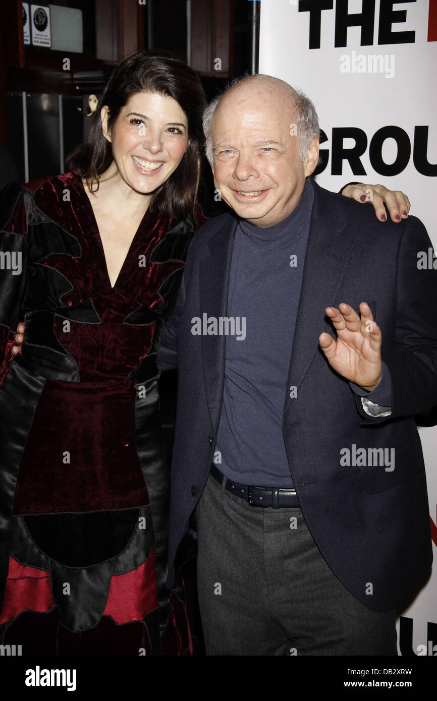 Marisa Tomei and Wallace Shawn  Celebration for The New Group Off-Broadway production of 'Wallace Shawn's - Stock Image