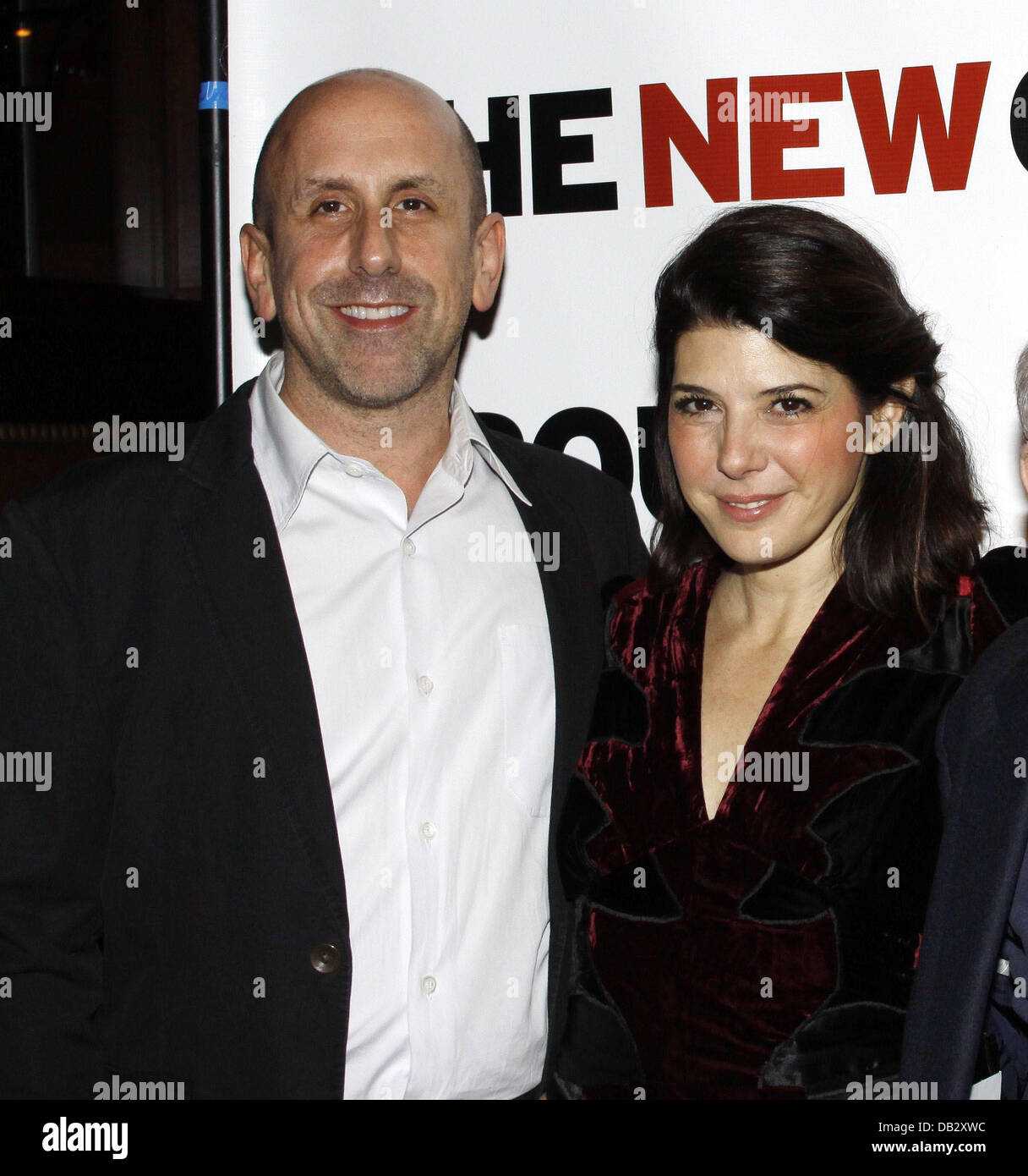 Scott Elliott and Marisa Tomei Celebration for The New Group Off-Broadway production of 'Wallace Shawn's - Stock Image