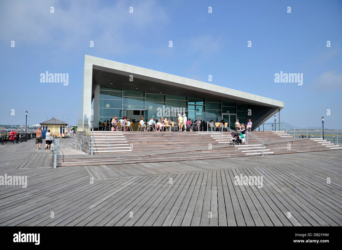 The Royal Pavilion at the end of Southend Pier - Stock Image