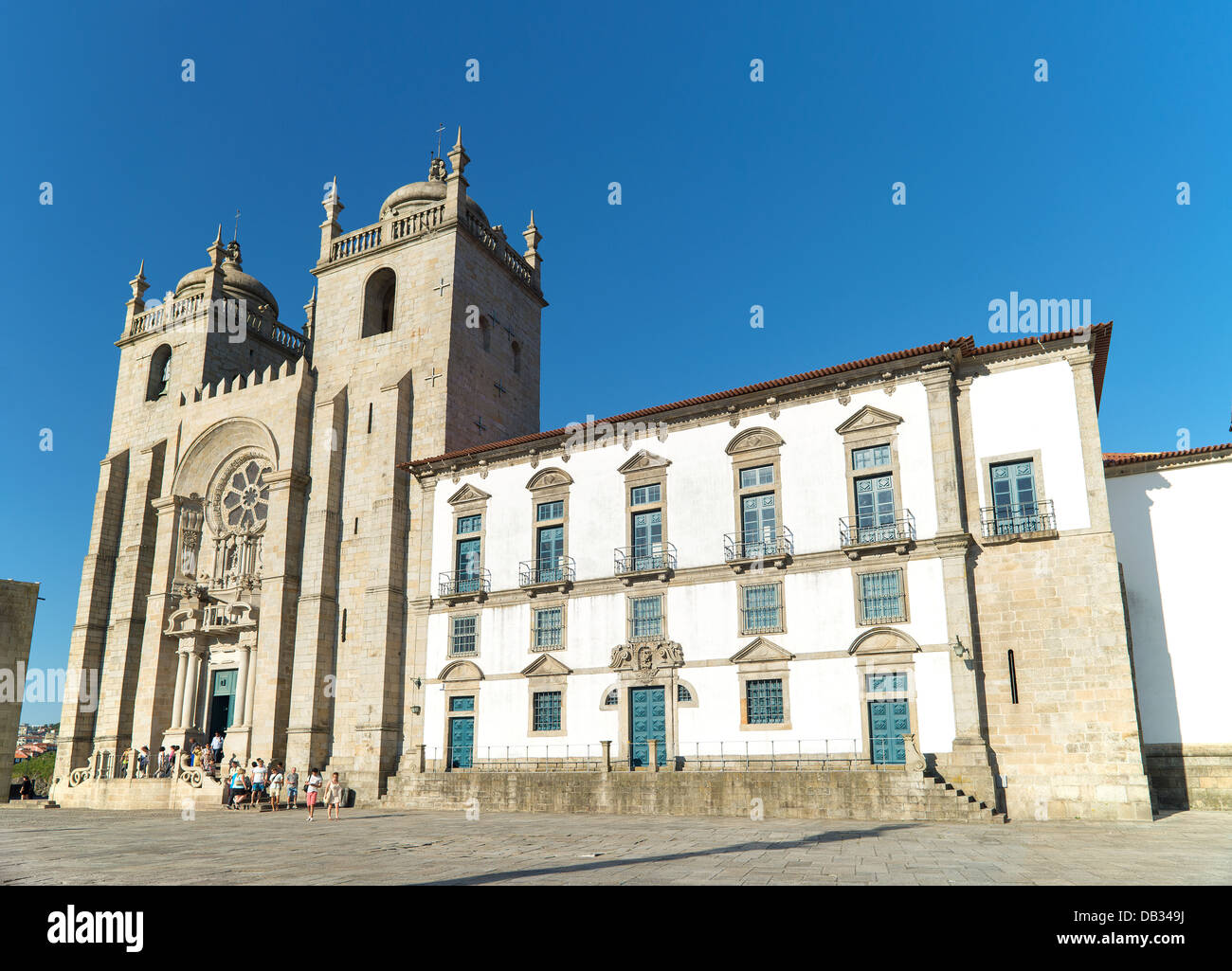 porto cathedral in north portugal - Stock Image
