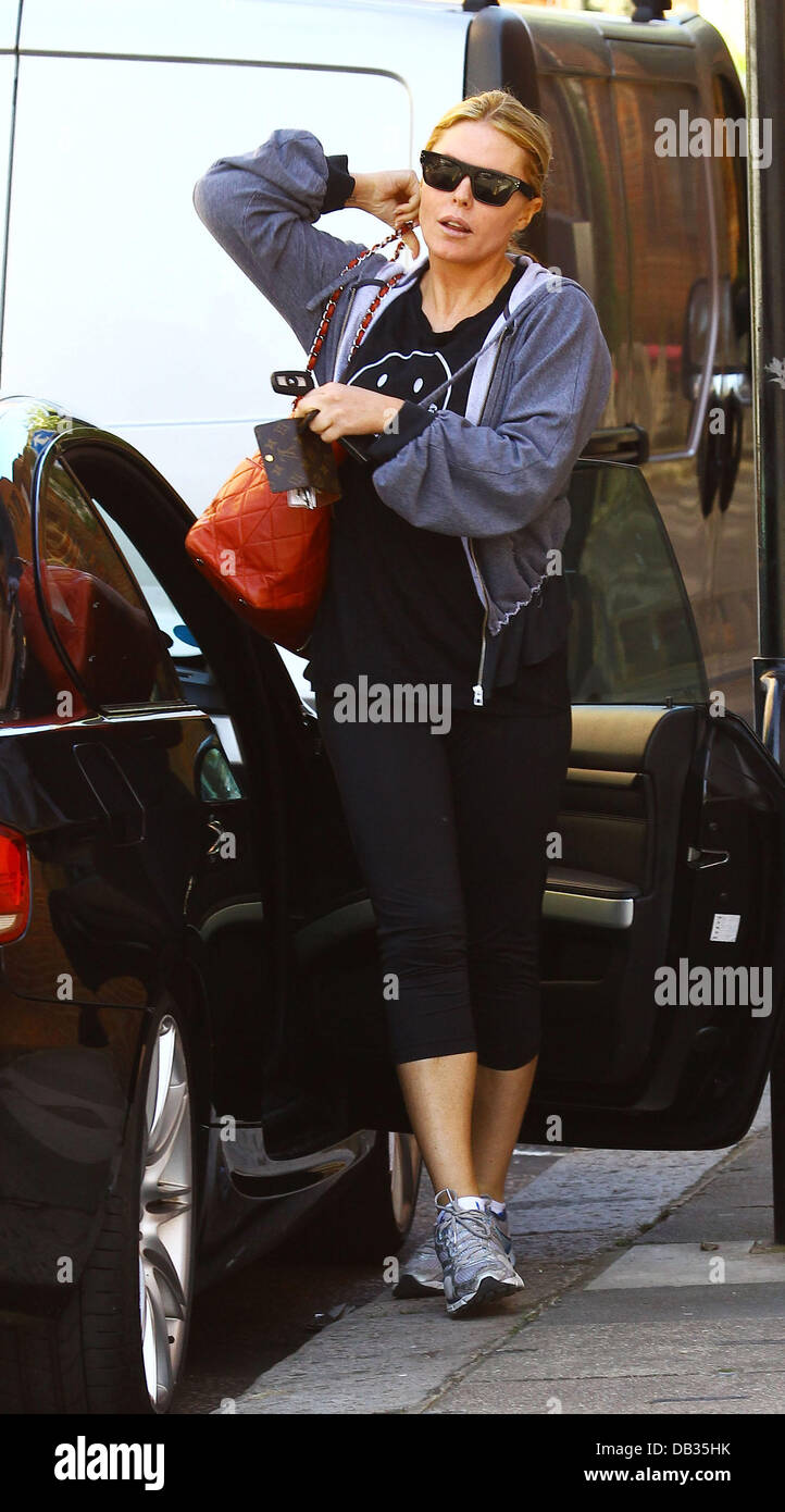 Mccartney Wearing Stock Photos Images Alamy Jolie Clothing Patsy Mini Dress Kensit A Addidas By Stella Top Makes Her Way To The Gym After