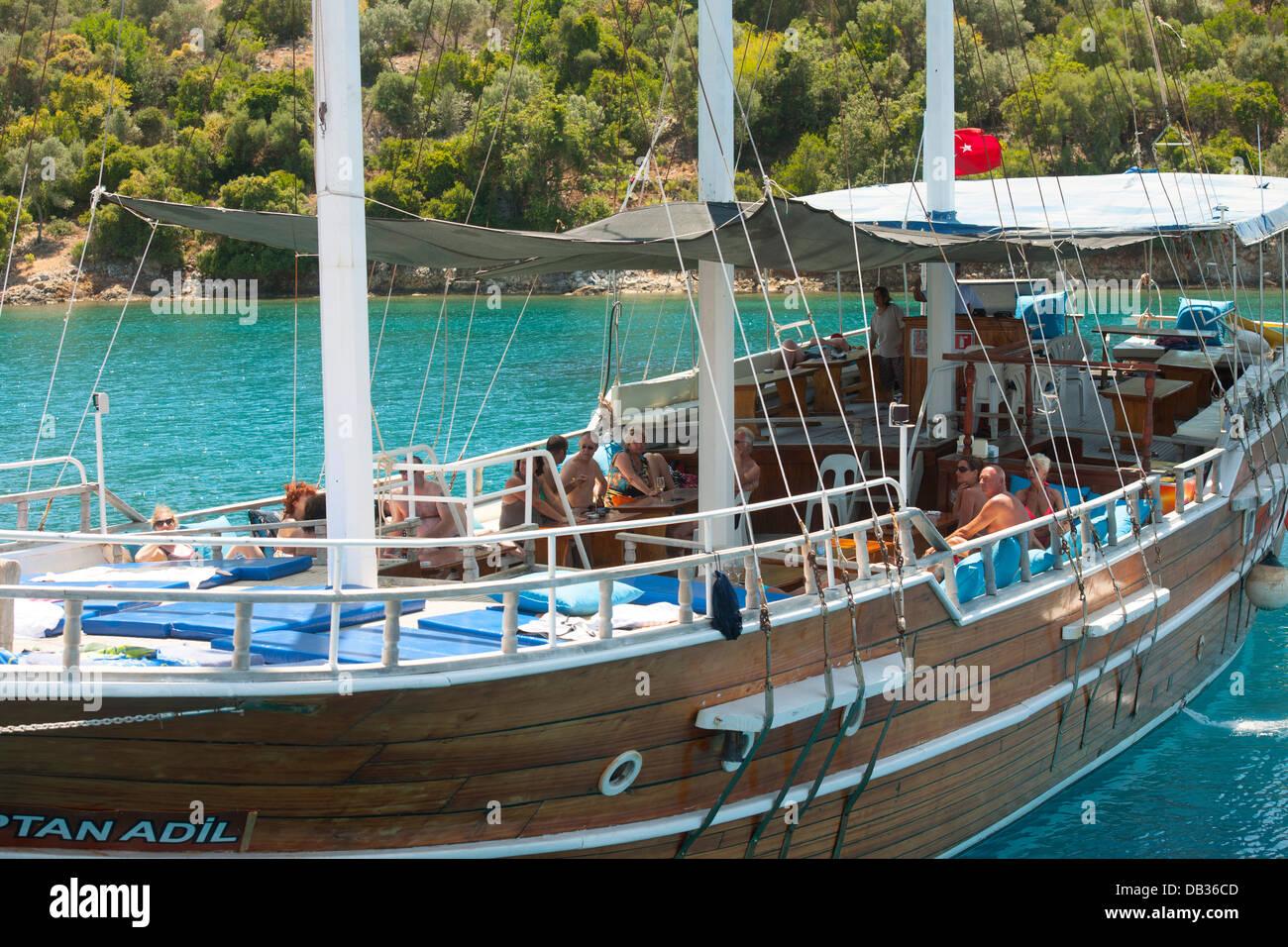 Türkei, Provinz Mugla, Göcek, Blaue Reise - Stock Image
