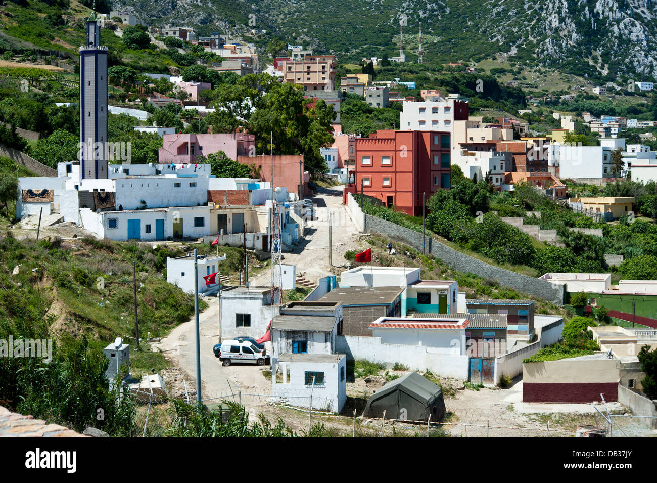 Benzu village in the border between Spain Ceuta and Morocco. Ceuta,North Africa. Spain. - Stock Image