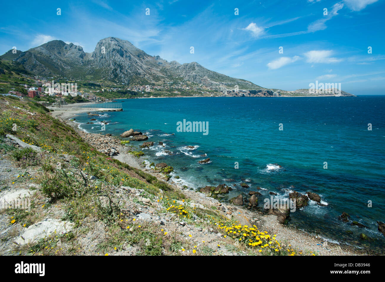 Benzu village at the border of the Spanish enclave of Ceuta and Morocco. Ceuta,North Africa. Spain. - Stock Image