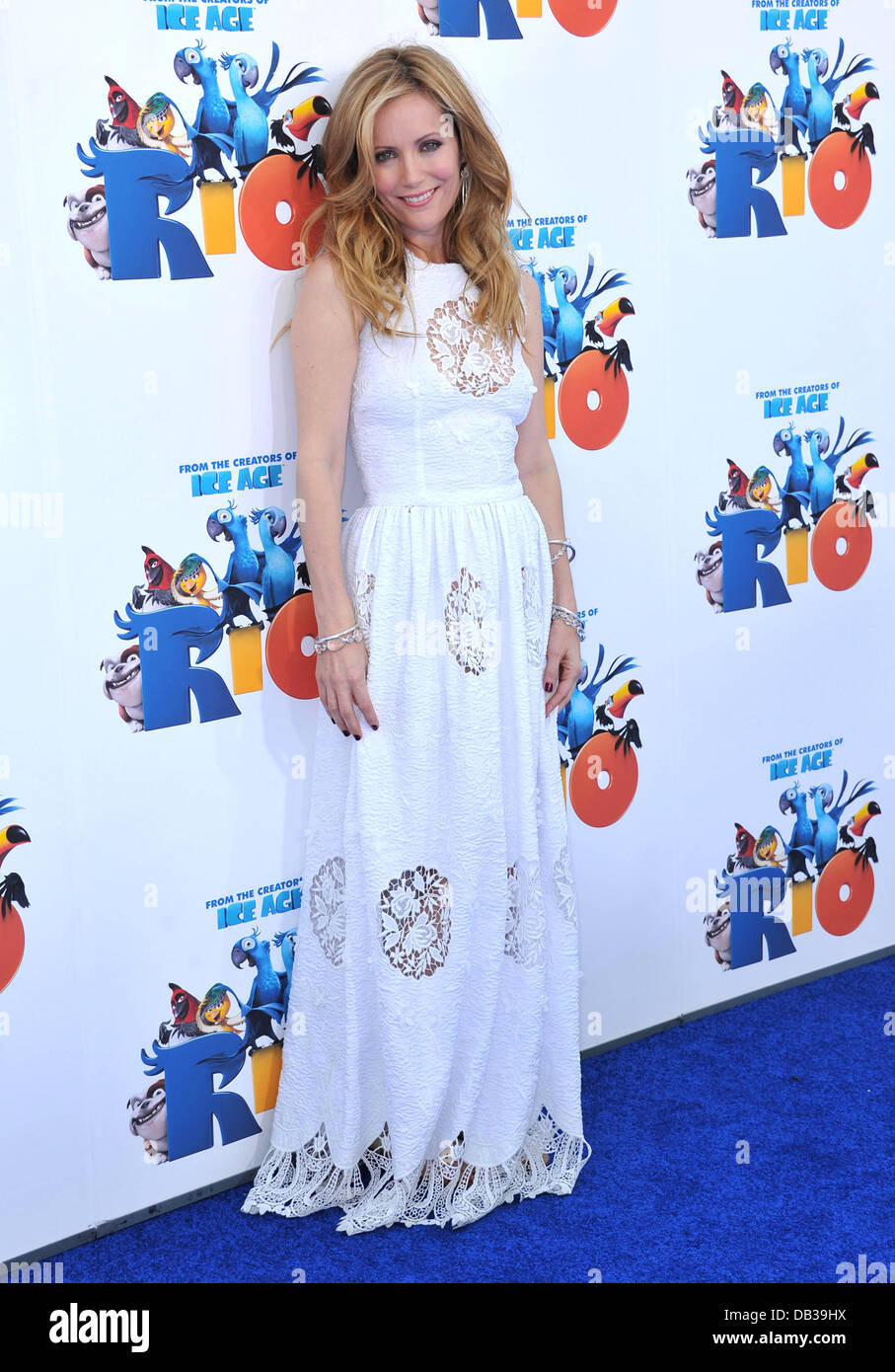 Leslie Mann Los Angeles Premiere of 'Rio' held at the Grauman's Chinese Theatre Los Angeles, California - Stock Image
