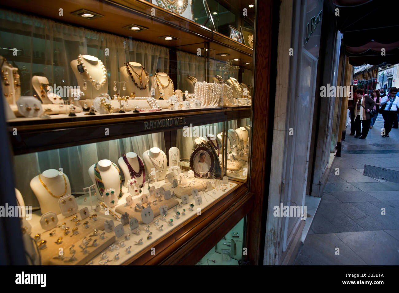 Jewellery shop, Ceuta has the status of free port and a series of tax breaks favour the trade .Ceuta. Spain. - Stock Image
