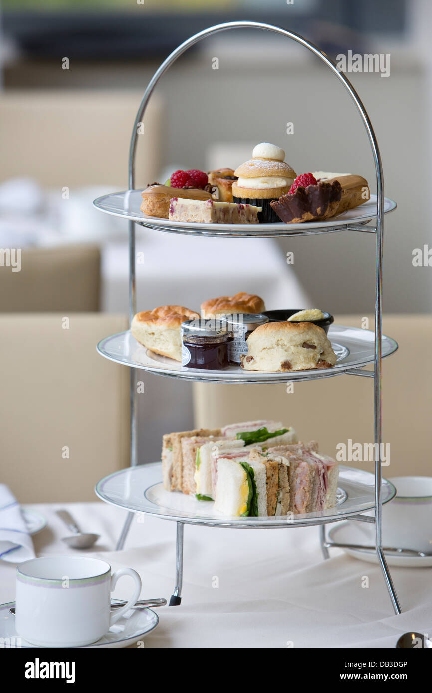 Afternoon Tea in The Champions Room Centre Court Debentures The Championships Wimbledon 2013 - Stock Image