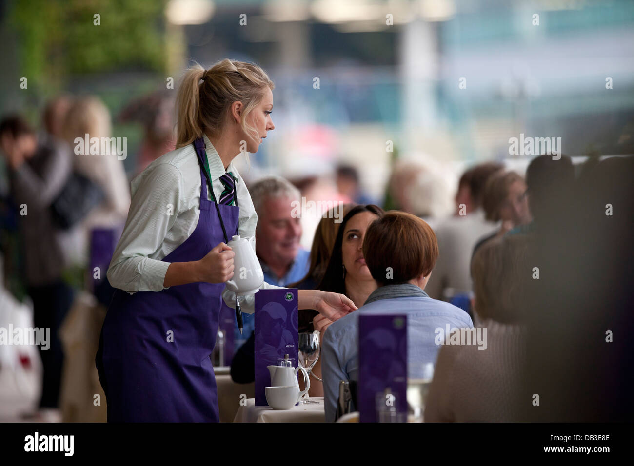Busy Restaurant Waiter Serving Stock Photos & Busy