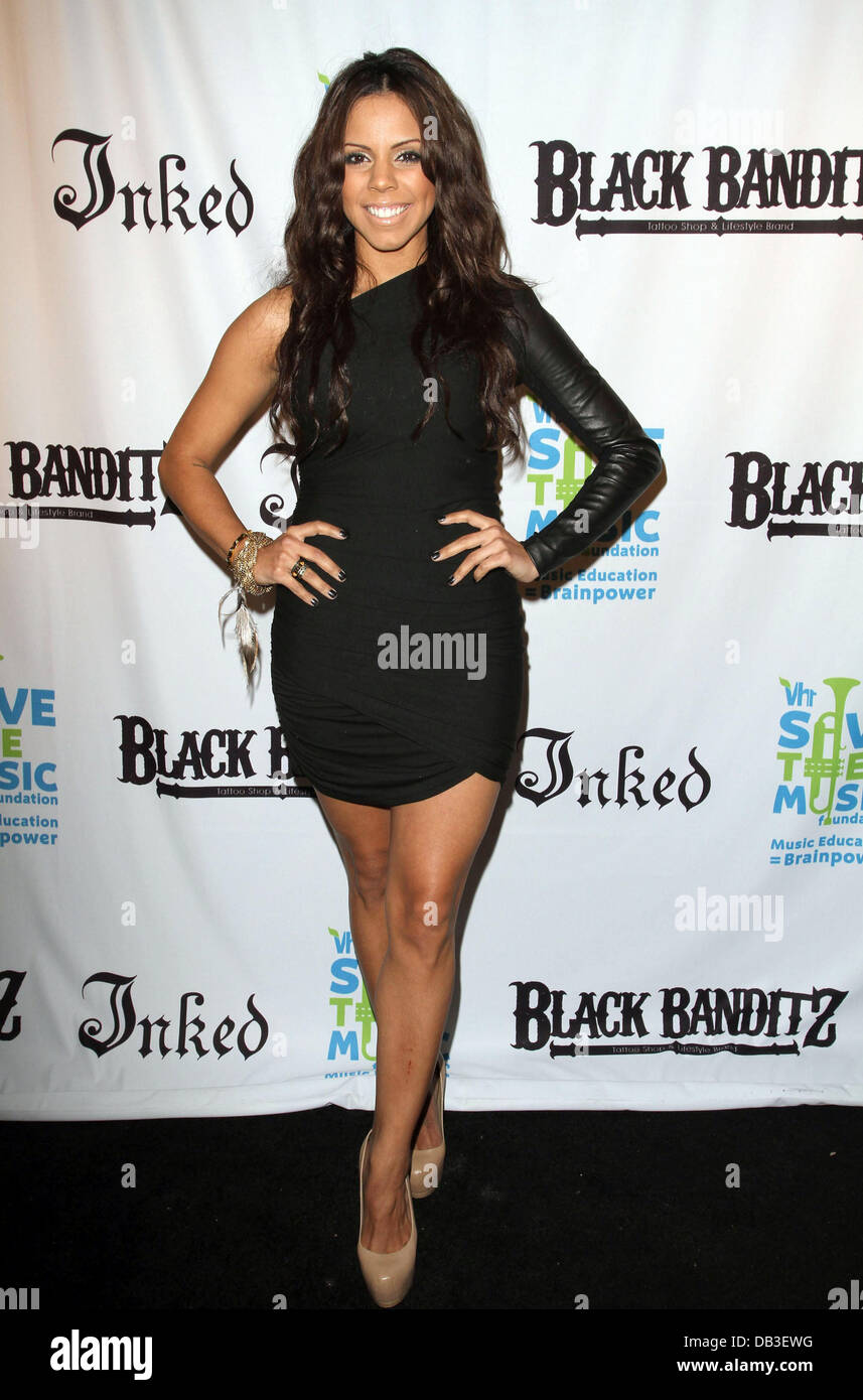 Brittaney Minton Black Banditz Grand Opening & Pre-Coachella LA Bash to benefit VH1 Save the Music Foundation Held Stock Photo