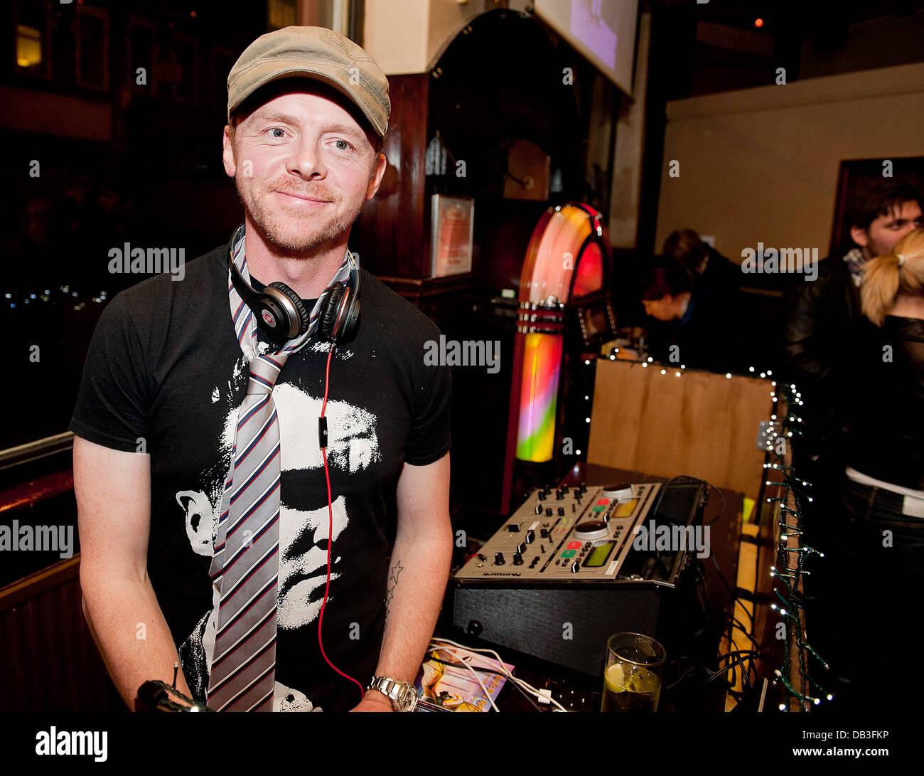 Simon Pegg at Boogaloo. London, England - 13.04.11 - Stock Image