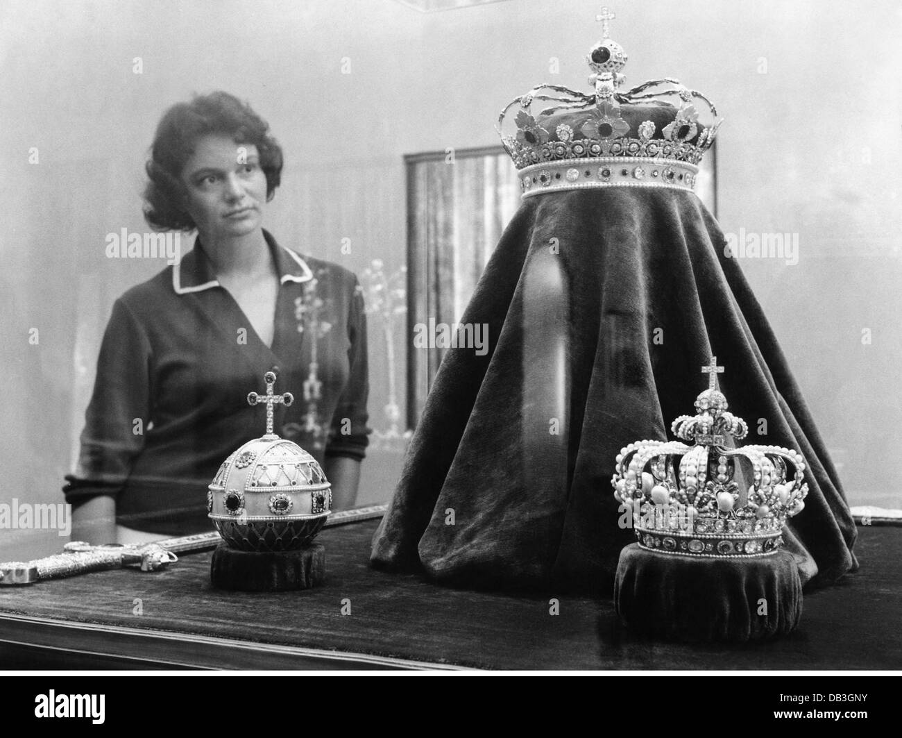 crowns / crown jewels, Bavaria, Imperial regalia of the House of Wittelsbach, manufactured for Maximilian I Joseph - Stock Image