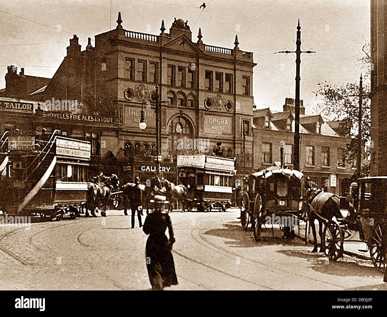 Stockport St. Peter's Square Victorian period - Stock Image