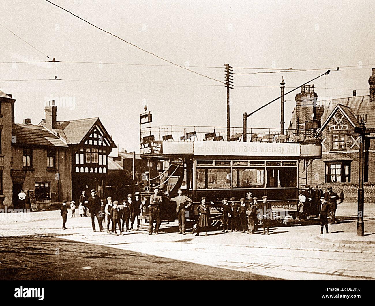 Stockton Heath Victoria Square early 1900s - Stock Image