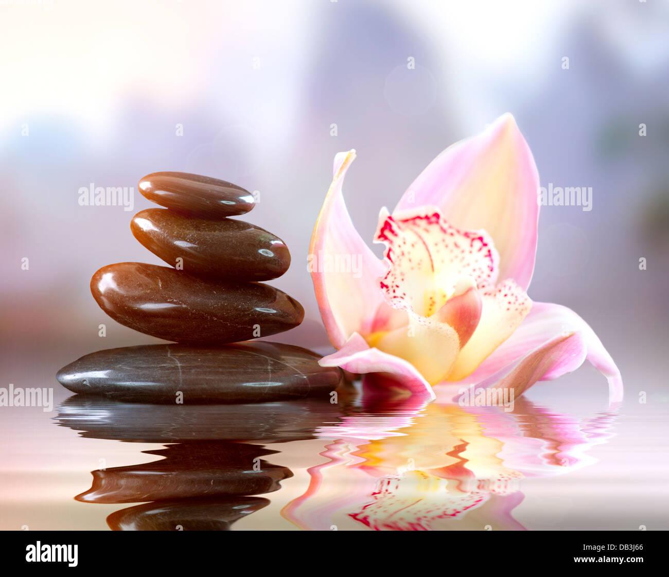 Spa Zen Stones. Harmony Concept - Stock Image