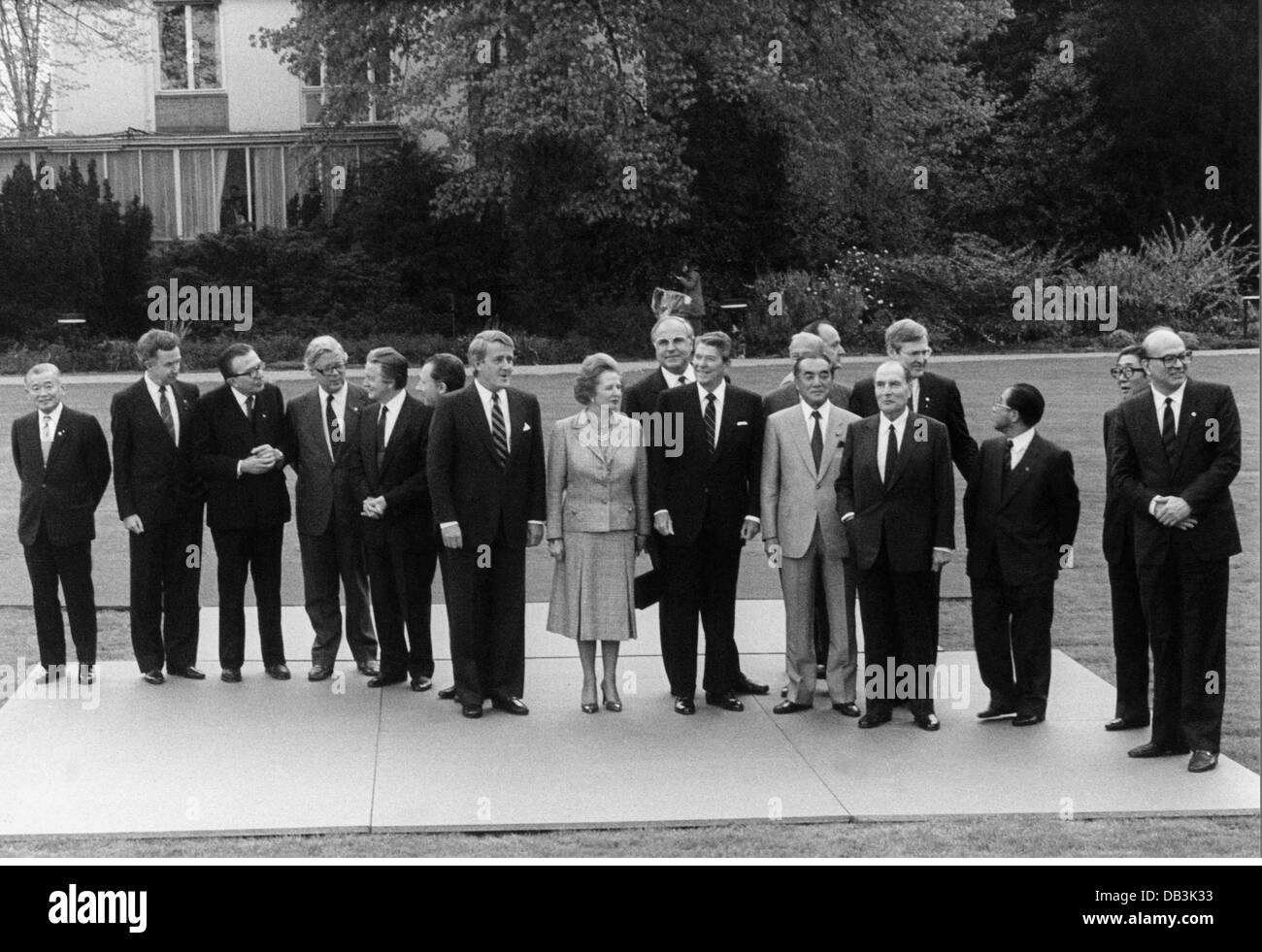 politics, conferences, G7 summit, Bonn, West Germany, 2.- 4.5.1985, Additional-Rights-Clearences-NA - Stock Image