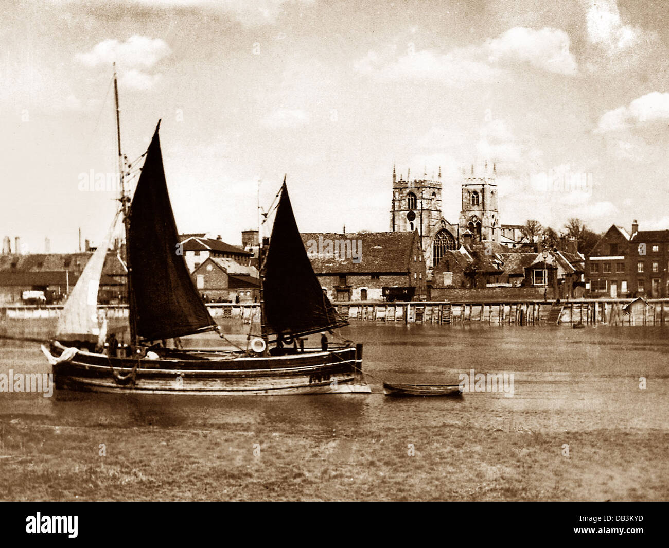 King's Lynn early 1900s - Stock Image