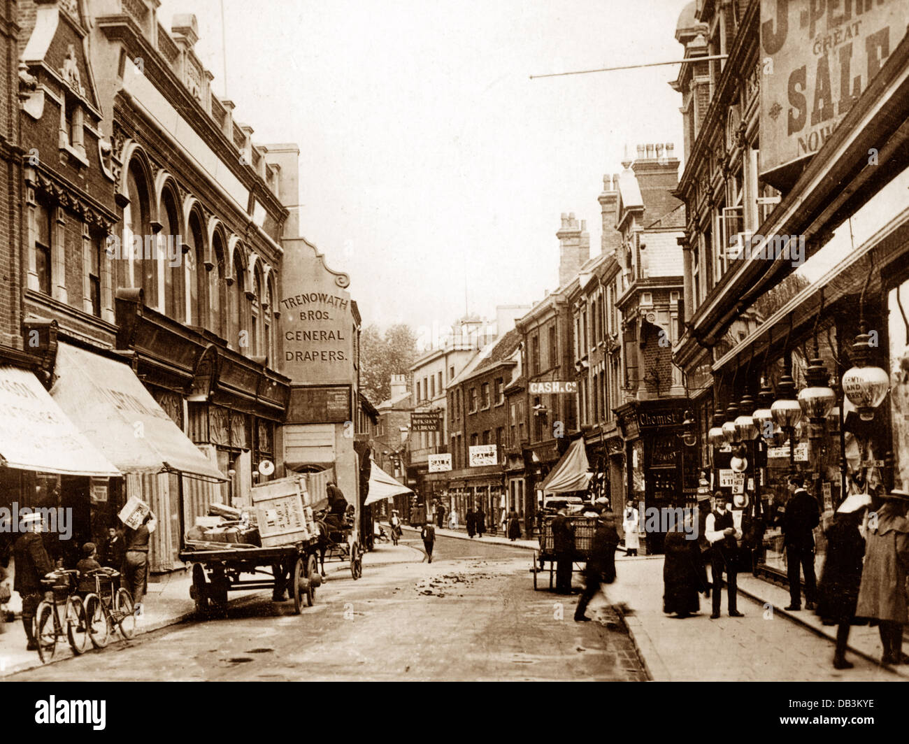King's Lynn High Street early 1900s - Stock Image