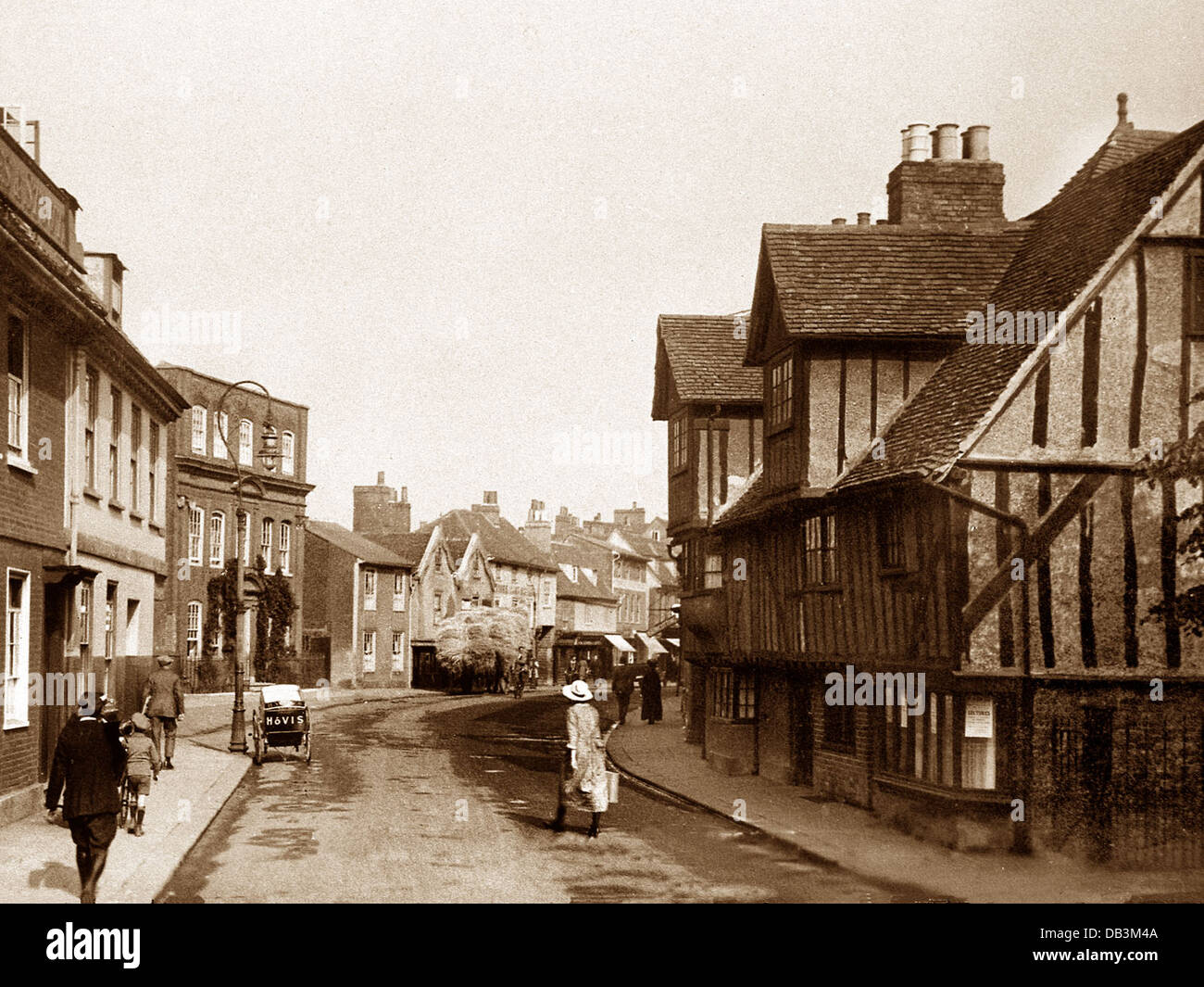 Hertford St. Andrew's Street early 1900s - Stock Image