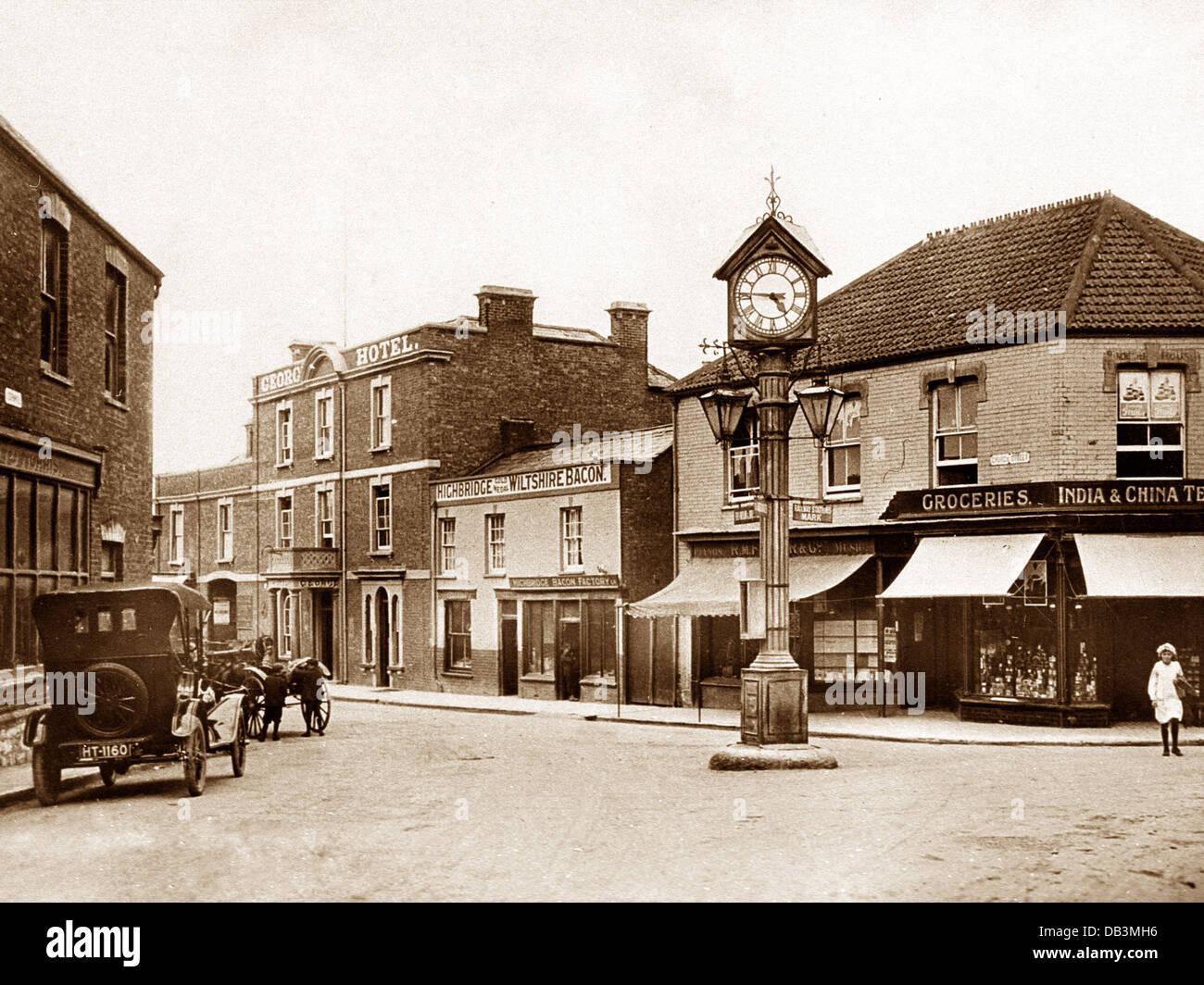 Highbridge Cornhill probably 1920s - Stock Image