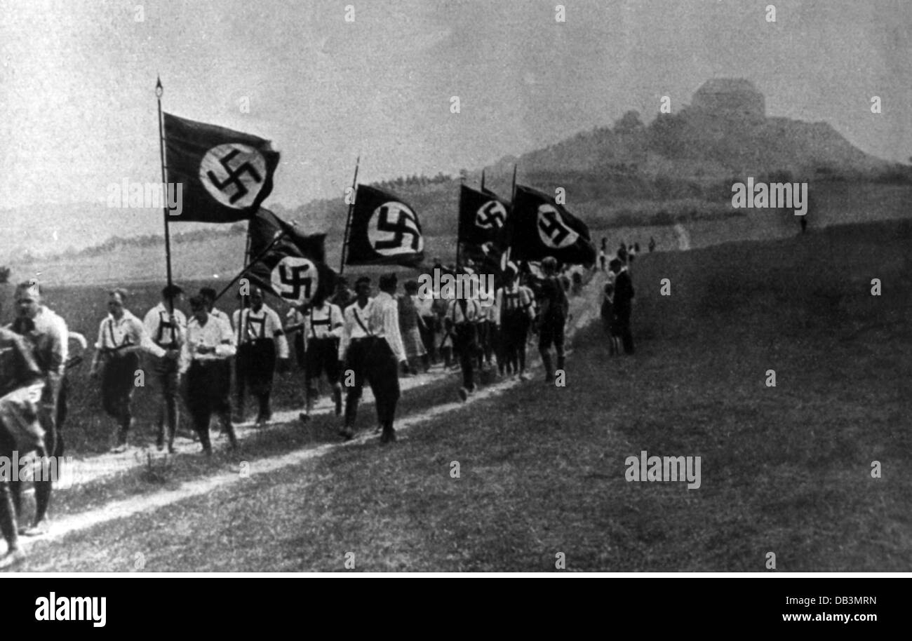 National Socialism, organisations, Sturmabteilung (SA), SA storm during uniform prohibition, 1930, Additional-Rights - Stock Image