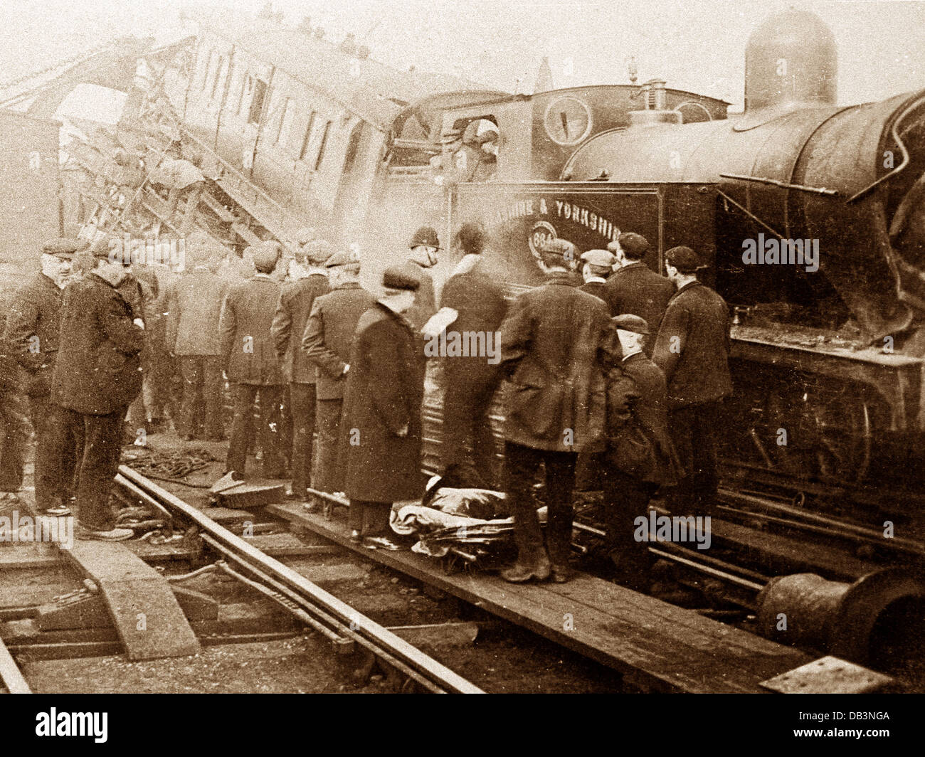 Huddersfield Railway Accident 21st April 1905 - Stock Image