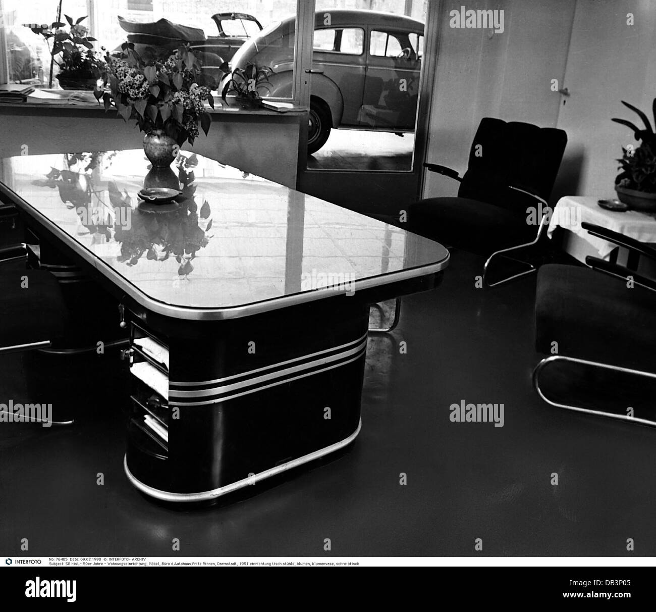 Furnishing, Furniture, Office Of The Car Dealer Fritz Rinnen, Darmstadt,  1951,