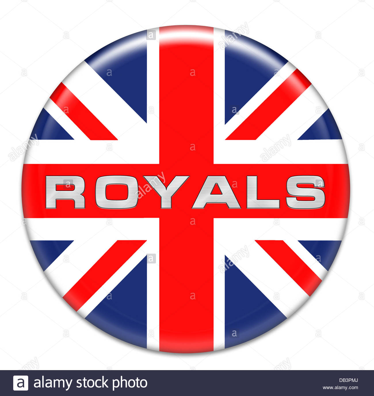 Royals button - Stock Image