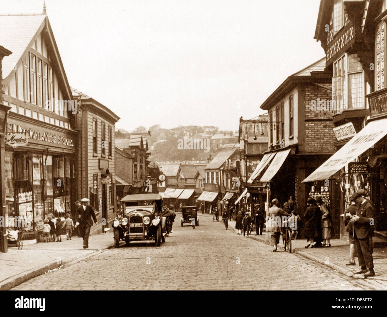 Northwich Witton Street probably 1930s - Stock Image
