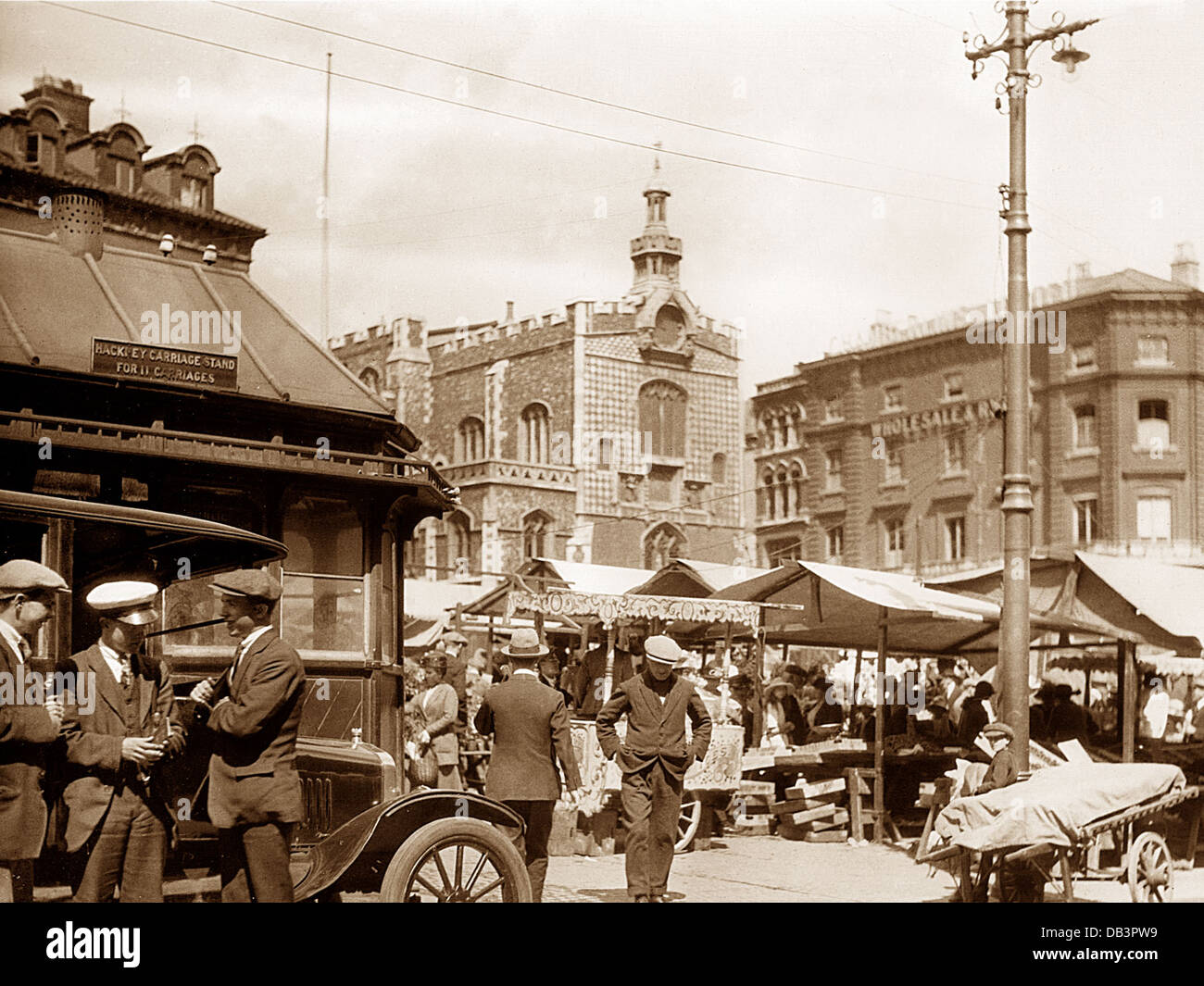 Norwich Market probably 1930s - Stock Image