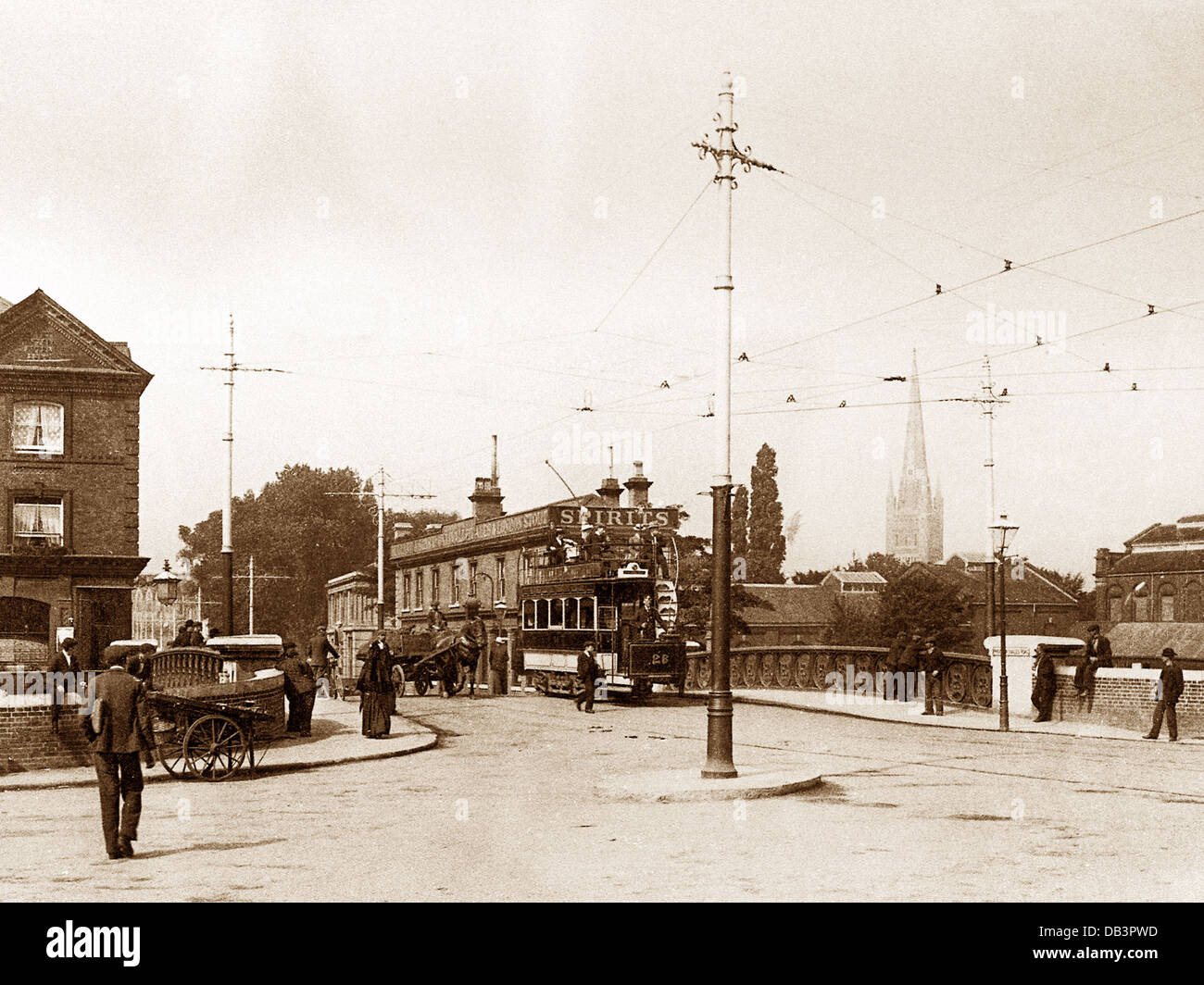 Norwich Prince Of Wales Road early 1900s - Stock Image