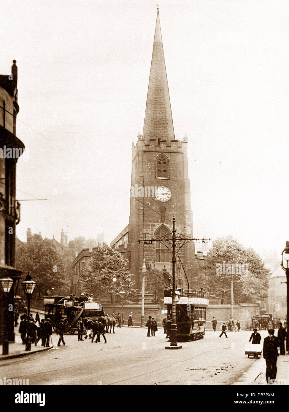Nottingham St. Peter's Square early 1900s - Stock Image