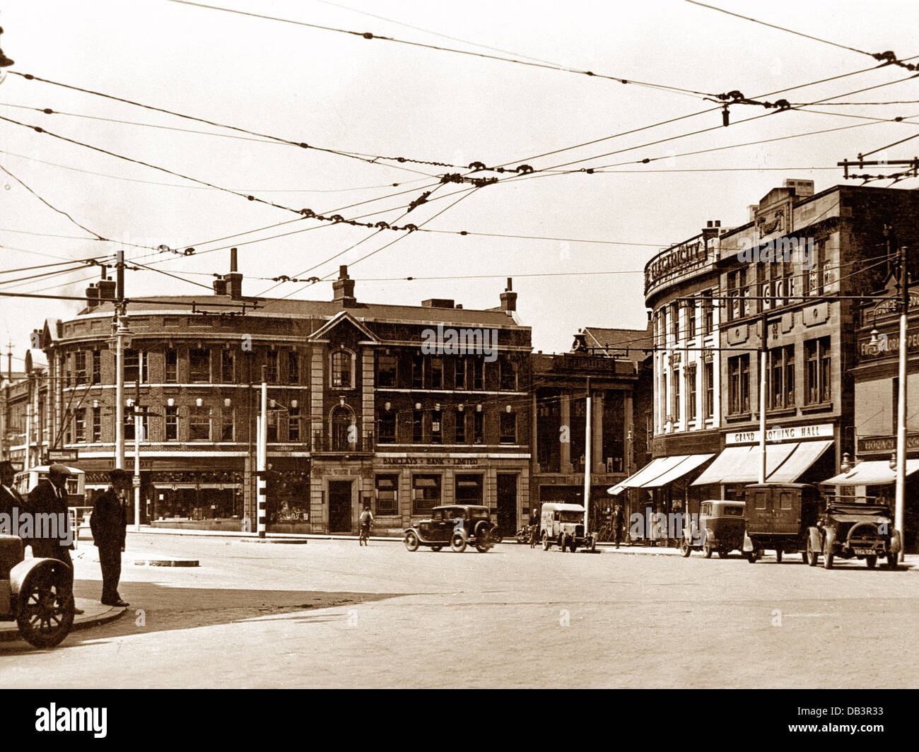 Rotherham All Saints' Square probably 1930s - Stock Image