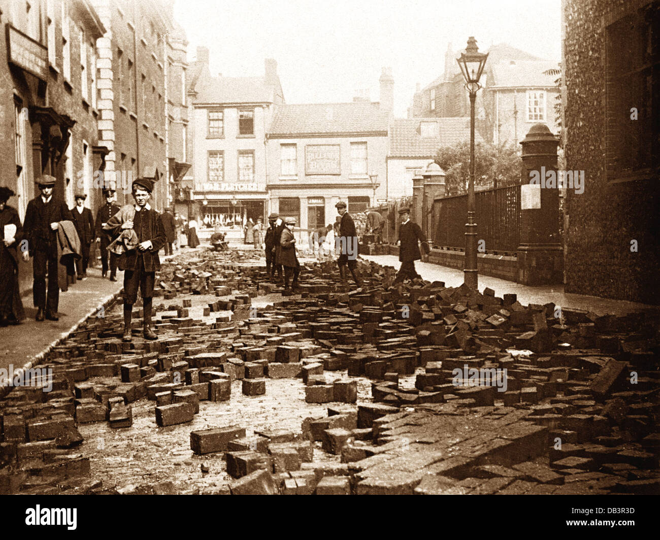 Norwich Aftermath of the Colegate Street Flood early 1900s - Stock Image