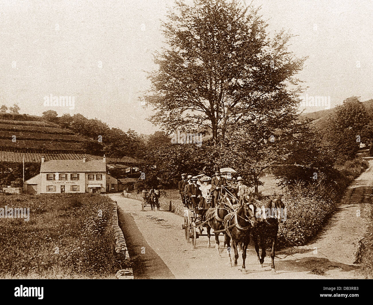 St. Peter's Valley Jersey Victorian period - Stock Image