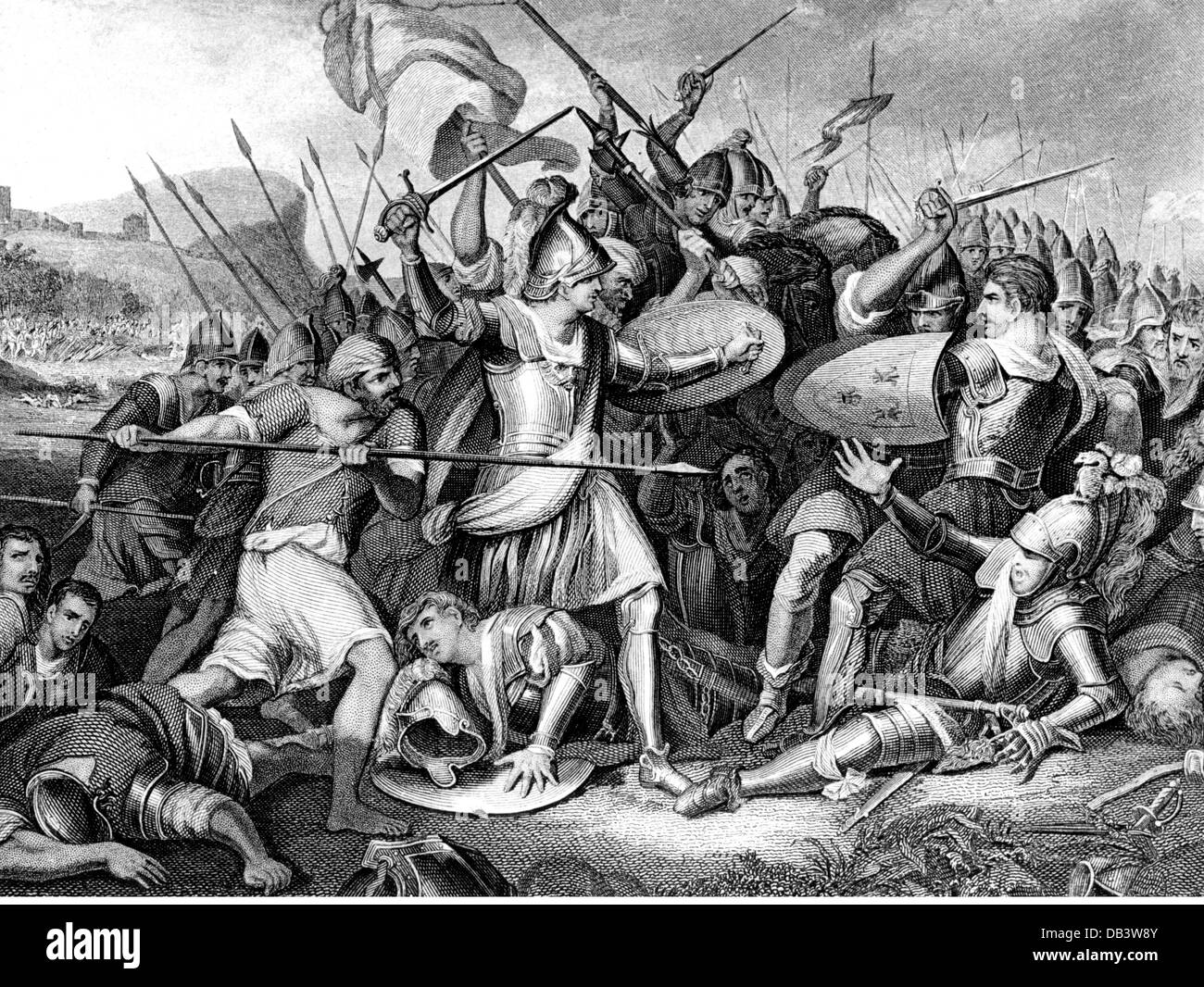 evnets, Hundred Years' War, Battle of Agincourt, 25.10.1415, Additional-Rights-Clearences-NA - Stock Image