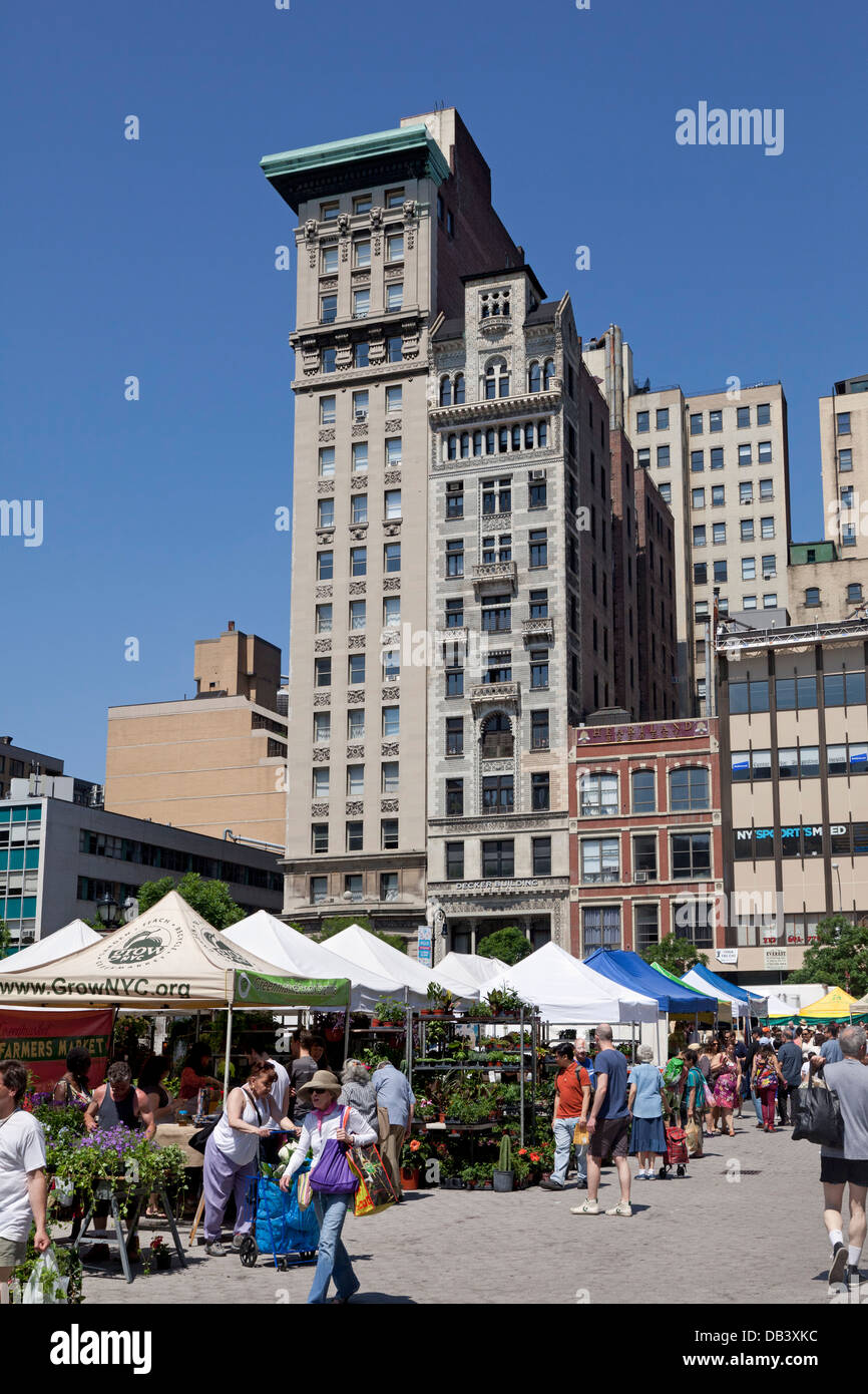 Union Square greenmarket, New York City - Stock Image