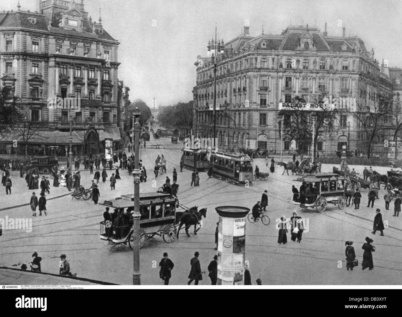 geography / travel, Germany, Berlin, square, Potsdamer Platz, circa 1900,  Additional-Rights-Clearences-NA