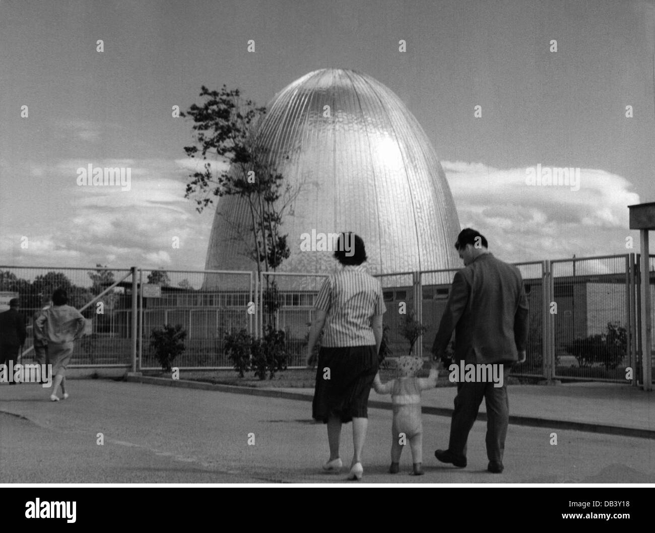 science, nuclear physics, nuclear research reaktor Munich of the Technical University at Garching, Upper Bavaria, Stock Photo