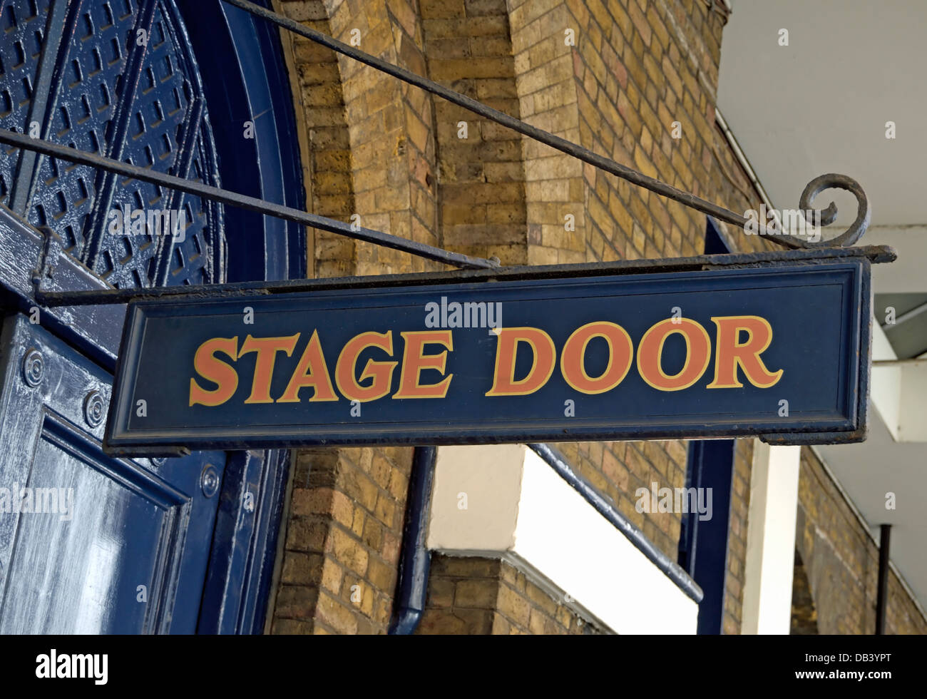 stage door sign at the theatre royal, drury lane, london, england - Stock Image