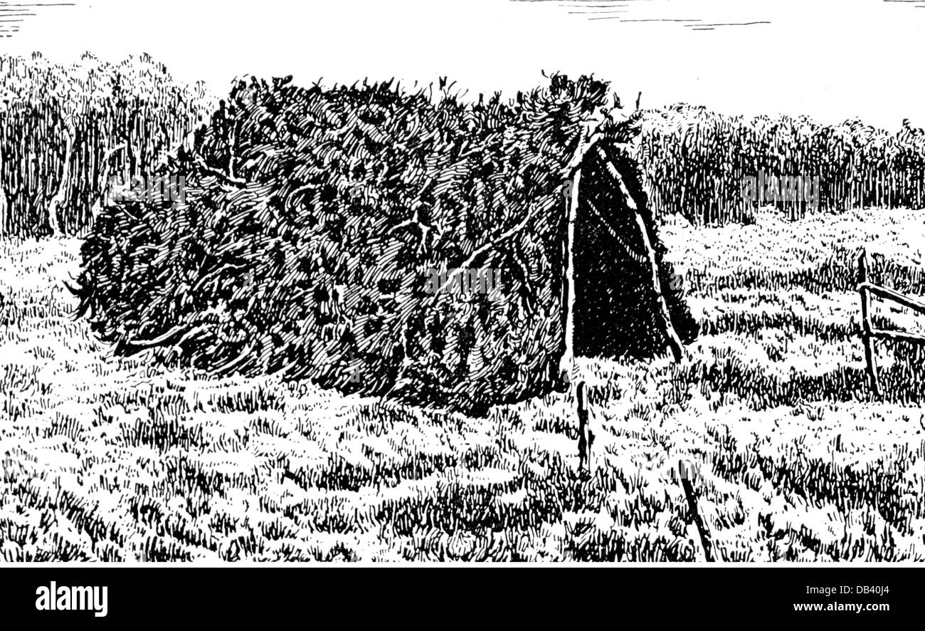 Lenin (Vladimir Ilyich Ulyanov), 22.4.1870 - 21.1.1924, Russian politician, compost shed where he was hiding in - Stock Image
